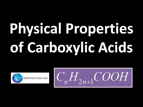 Physical Properties of Carboxylic Acids | Carbon Compound