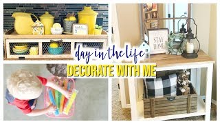 FARMHOUSE DECORATE WITH ME, CLEANING, & SUMMER BREAK | DAY IN THE LIFE OF SAHM 2019