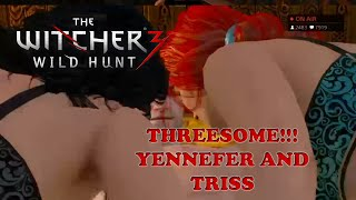 The Witcher 3: Wild Hunt Threesome Yennefer and Triss Sex Scene (3some)