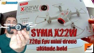 SYMA X22W, Batería a 400 mah, Fpv wifi altitude hold mini drone