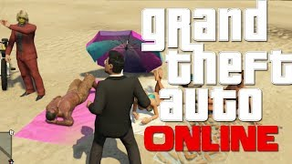 MOLESTANDO EN LA PLAYA - GTA Online con Willy, sTaXx y Vegetta