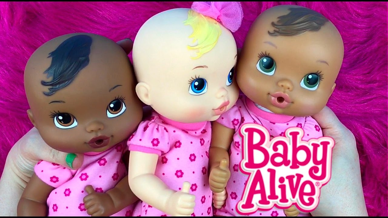 Comparing My Baby Alive Luv N Snuggle Baby Dolls With