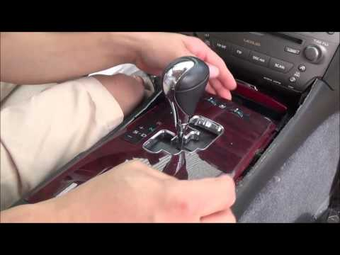 2006-2013 lexus is350 & lexus is250 center console removal/Part 1