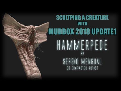 Sculpting on Mudbox 2018 Update 1 Hammerpede