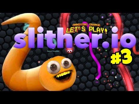 Annoying Orange - Slither.io #3: Buggy Eyes!