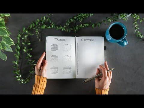 Minimal bullet journal setup » for productivity + mindfulness