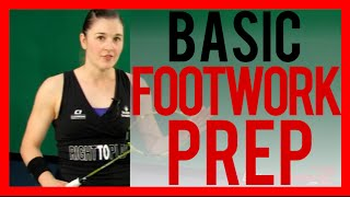 Badminton Footwork Lesson 02 - Forehand Footwork Basic Prep