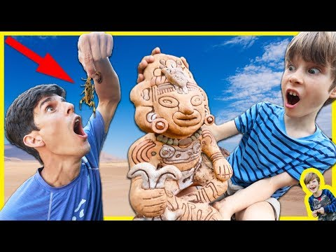 EATING LIVE SCORPION TO SURVIVE & NEW CLUES FOUND with RIDDLE HIDDEN INSIDE MYSTERY STATUE!