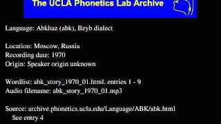 Abkhaz audio: abk_story_1970_01