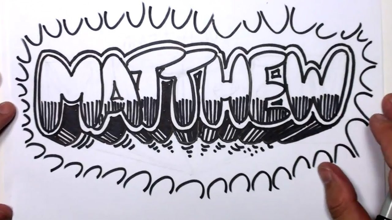 Uncategorized Bubble Letter Name how to draw graffiti letters write matthew in bubble mat youtube