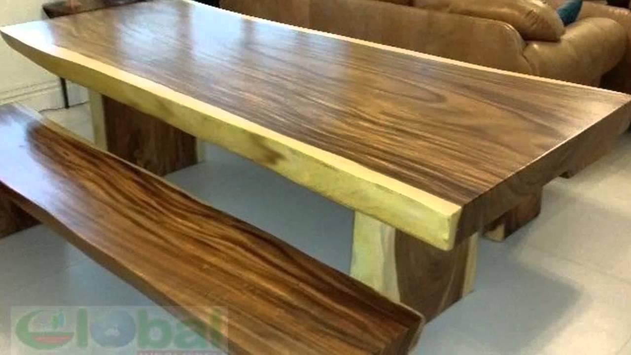 Live Edge Suar Wood Dining Table Slab Youtube