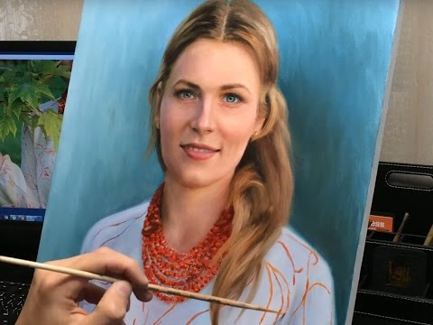 Портрет маслом, Time-lapse Video / Oil Portrait