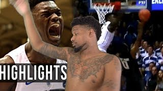 OH MY LORD 6 BLOCKS IN ONE GAME!? ZION WILLIAMSON DUKE vs ARMY HIGHLIGHTS
