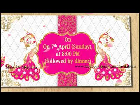 Half Saree Ceremony Invitation Funnydog Tv