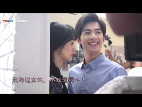 [BTS] Just One Slight Smile is Very Alluring (微微一笑很倾城) part 5 Kiss scene - Yang Yang (杨洋)