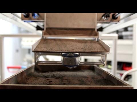 3D-printing moondust bricks with focused solar heat