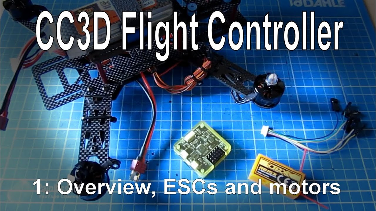 (1/10) cc3d flight controller for beginners - overview, frame build and  power setup