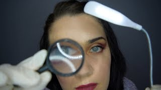 ASMR Skin Testing Exam - Gloves, Lights, Soft Speaking, Face Touching