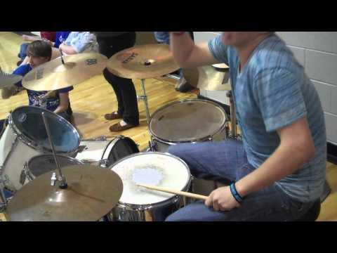 Cody Raymond playing Brick House along with Neodesha High School