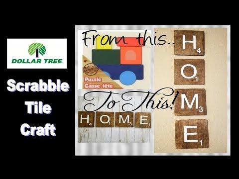Dollar Tree Scrabble Tiles Craft