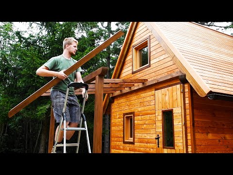Building Amazing OFF GRID CABIN - Complete Build !
