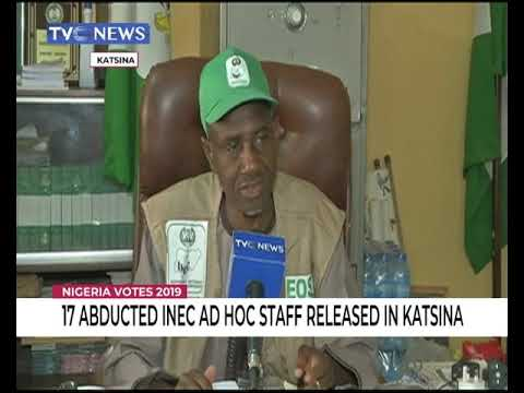 17 abducted INEC Ad hoc staff released in Katsina