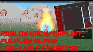 Roblox Hack/Exploit:Fulflex Alpha(Patched)Click TP, LUA-LUA C Converter, And More!