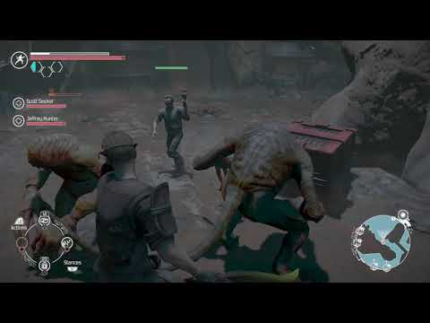The Technomancer The underworks fighting monsters |
