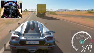 One of TheSLAPTrain's most viewed videos: Forza Horizon 3 GoPro Top Speed Challenge!  V12 vs V8