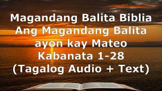 Download lagu (1) Magandang Balita Biblia - Mateo Kabanata 1-28 - Audio + Text