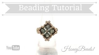 Cute Cubes Ring Beading Tutorial by Honeybeads1