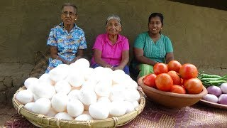 100 Eggs Recipe by Grandma, Mom and Daughter