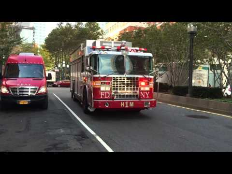 RARE CATCH OF FDNY HAZMAT 1 & IT'S 2ND PIECE RESPONDING FROM FDNY HEADQUARTERS AT METROTECH COMMONS.