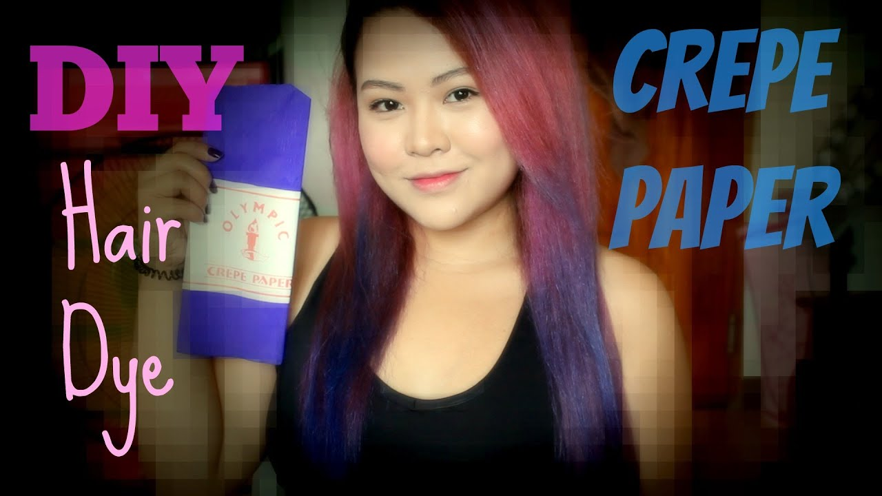 DIY Hair Dye With Crepe Paper  MsLaviniaful  YouTube