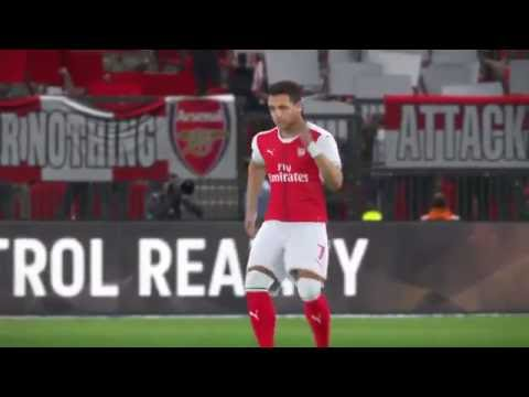 Xhaka. Become a Legend. PES 2017. Player-cam. Match day 1. Home vs Man Utd.OFFICIAL KITS