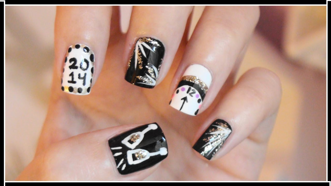 New Years Eve Nail Art - YouTube