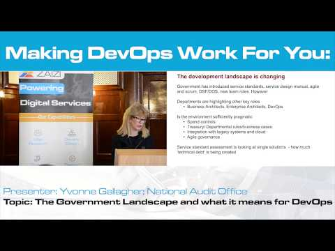 Yvonne Gallagher, National Audit Office: The Government Landscape and what it means for DevOps
