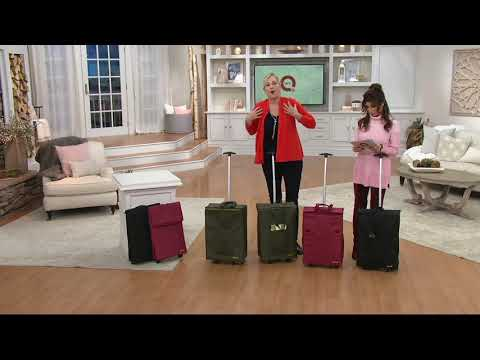 Smart Cart TraveLux Quilted Folding Shopper Tote on QVC