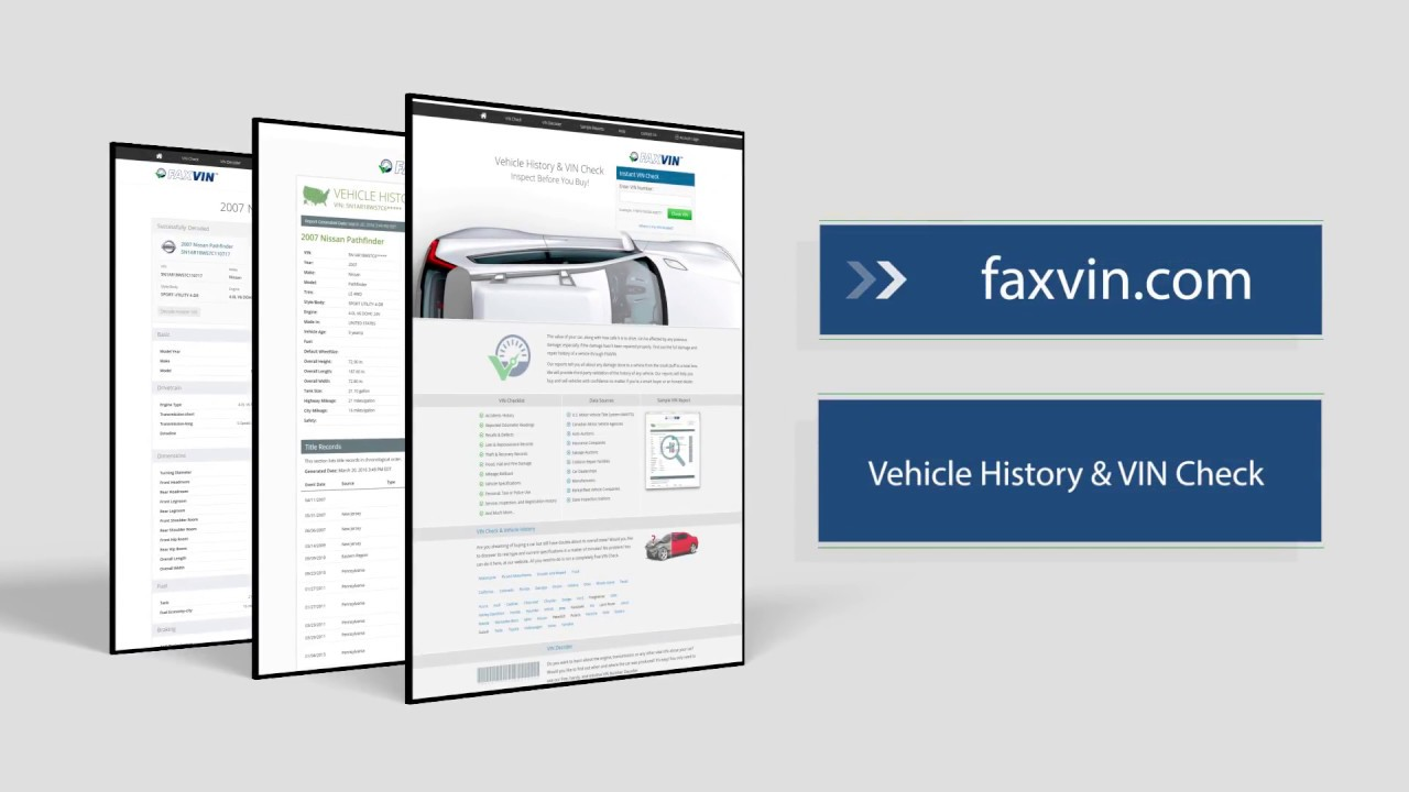 FAXVIN (FAX VIN) – VIN Lookup & Vehicle History Reports - YouTube