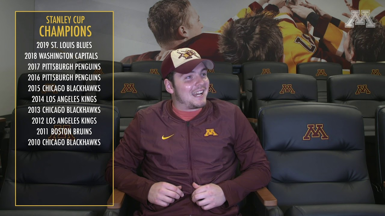 Gopher Hockey Rink Smarts - Stanley Cup Champions
