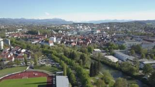 Kempten (Allgäu) & Alpen - Steady Drone Shot - 10.05.2017