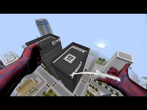REALISTIC MINECRAFT ~ SPIDERMAN SAVES SPIDERGIRL