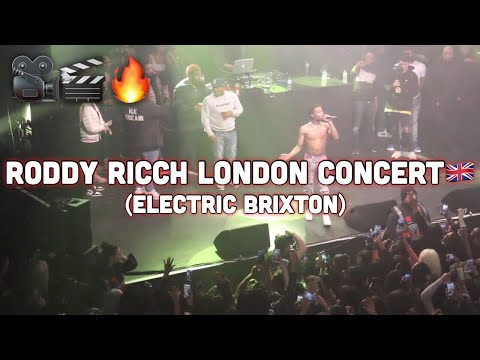 Roddy Ricch London Concert Live Show (Electric Brixton) @AcesizOfficial