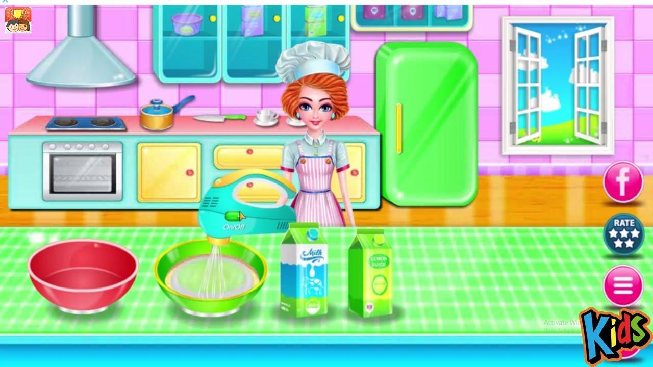 Main Masak Masakan Membuat Kue Berbie Permainan Anak Perempuan Film Animasi Kartun Anak Part 6 Youtube