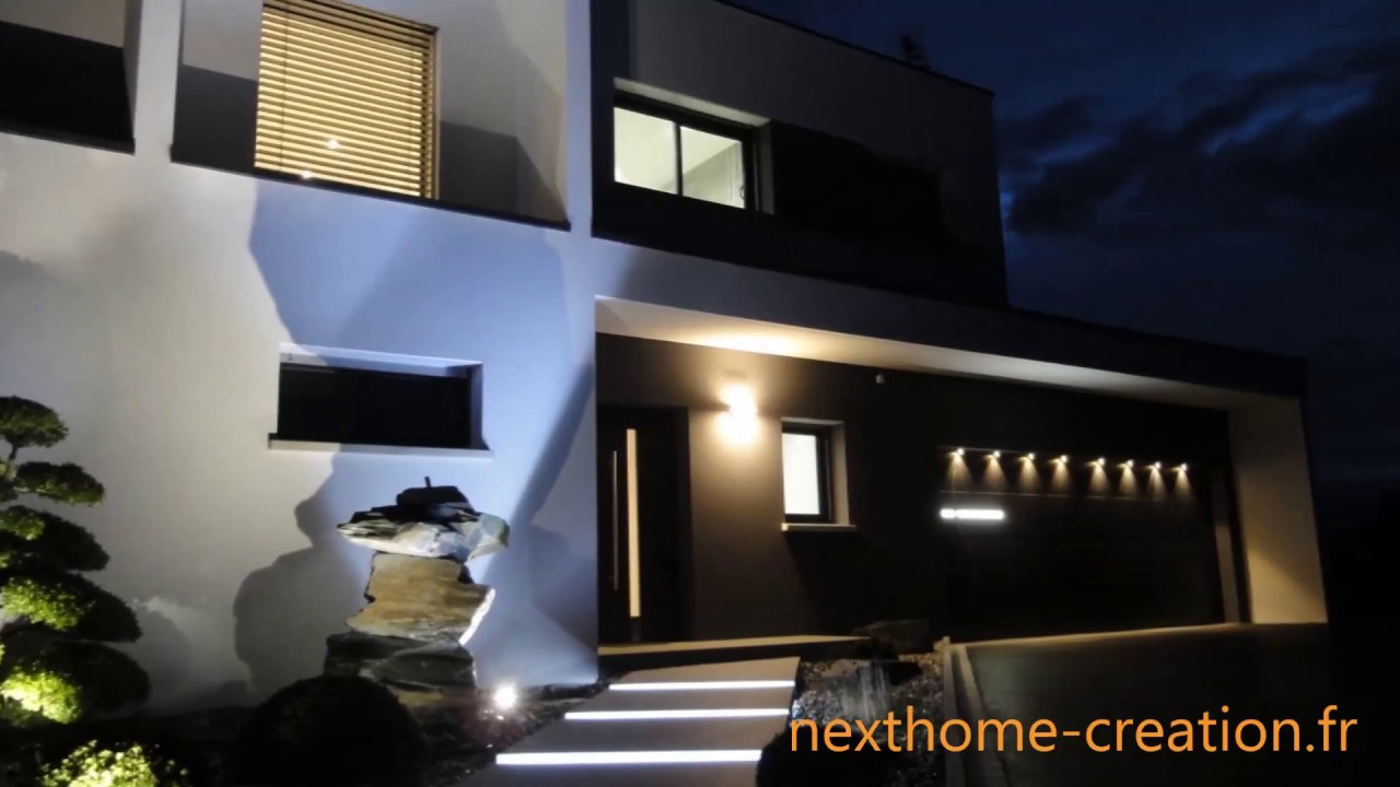 nexthome cr ation maison d 39 architecte design toit plat haut rhin 68 youtube. Black Bedroom Furniture Sets. Home Design Ideas