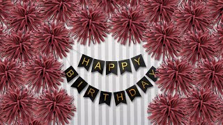 Birthday Decoration Ideas at Home | DIY Easy Home Party Decoration
