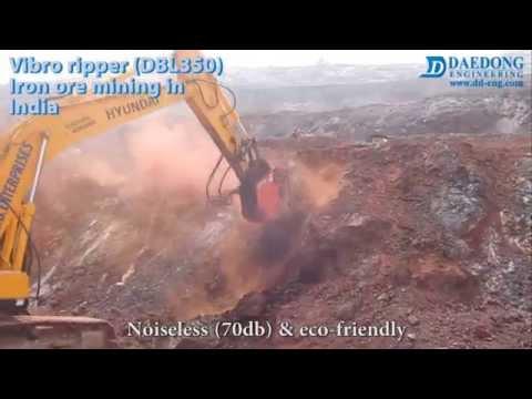 Vibro ripper DBL350 Iron ore mining in India