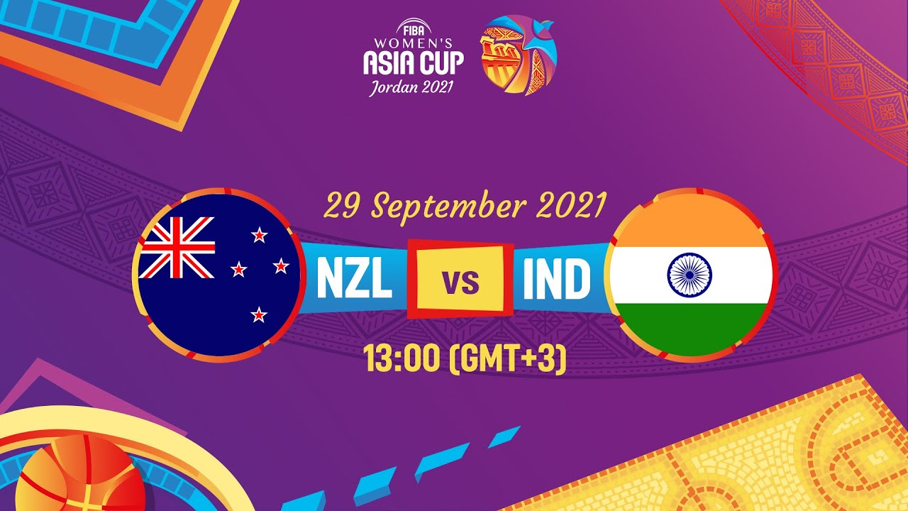 New Zealand v India   Full Game   FIBA Women's Asia Cup 2021 Division A