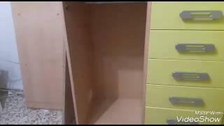 كيف تقومي بعمل رفوف في دولاب👍 الجزء تاني في غرفة الاولاد 💖