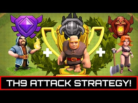PERFECT TH9 Trophy/Farming Attack Strategy GiVaWi - Clash Of Clans